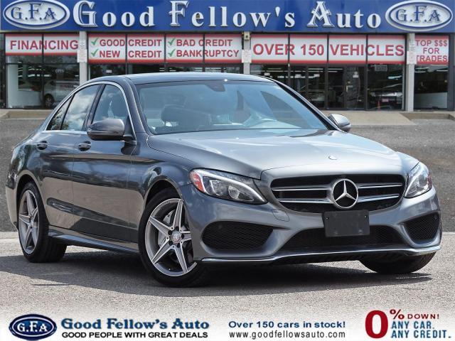 2017 Mercedes-Benz C300 4MATIC, PAN ROOF, BLIND SPOT, MEMORY Pkg, NAVI