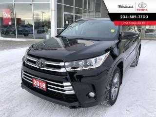 Used 2018 Toyota Highlander LIMITED  for sale in Winnipeg, MB