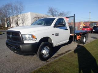 Used 2017 RAM 3500 Regular Cab 4WD Flat Deck 12 foot Dually for sale in Burnaby, BC