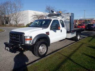 Used 2010 Ford F-550 Flat deck 12 Foot with Crane 4WD Diesel for sale in Burnaby, BC