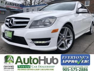 Used 2014 Mercedes-Benz C-Class C300-4 MATIC-LEATHER-MOON ROOF-HEATED SEATS-BLIND SPOT for sale in Hamilton, ON