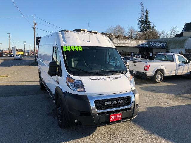 2019 RAM ProMaster 2500 HIGH ROOF EXT WB 3.6L 6 SPD AUTO