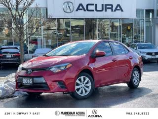 Used 2015 Toyota Corolla LE CVT for sale in Markham, ON