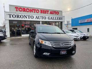 Used 2012 Honda Odyssey Touring w/RES & Navi NO ACCIDENT! LOW KM! LEATHER! NAV! DVD! for sale in Toronto, ON