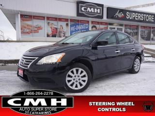 Used 2015 Nissan Sentra S  BLUETOOTH S/W-AUDIO PWR-GROUP AUTO for sale in St. Catharines, ON