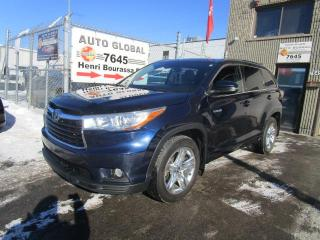Used 2016 Toyota Highlander Traction intégrale 4 portes Limited for sale in Montréal, QC