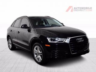 Used 2018 Audi Q3 KOMFORT QUATTRO TFSI CUIR TOIT PANO MAGS for sale in St-Hubert, QC