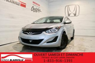 Used 2015 Hyundai Elantra GL for sale in Blainville, QC