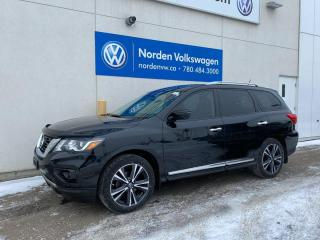 Used 2018 Nissan Pathfinder PLATINUM MIDNIGHT EDITION! - HTD / COOELD SEATS + DVD'S for sale in Edmonton, AB