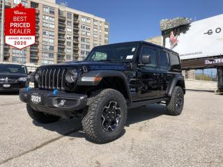 New 2021 Jeep Wrangler Unlimited 4xe Rubicon Leather seats, Remote proximity key, Heated steering wheel & seats, Back up cam with park assist for sale in North York, ON