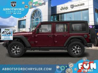 New 2021 Jeep Wrangler Rubicon Unlimited  - Leather Seats - $411 B/W for sale in Abbotsford, BC
