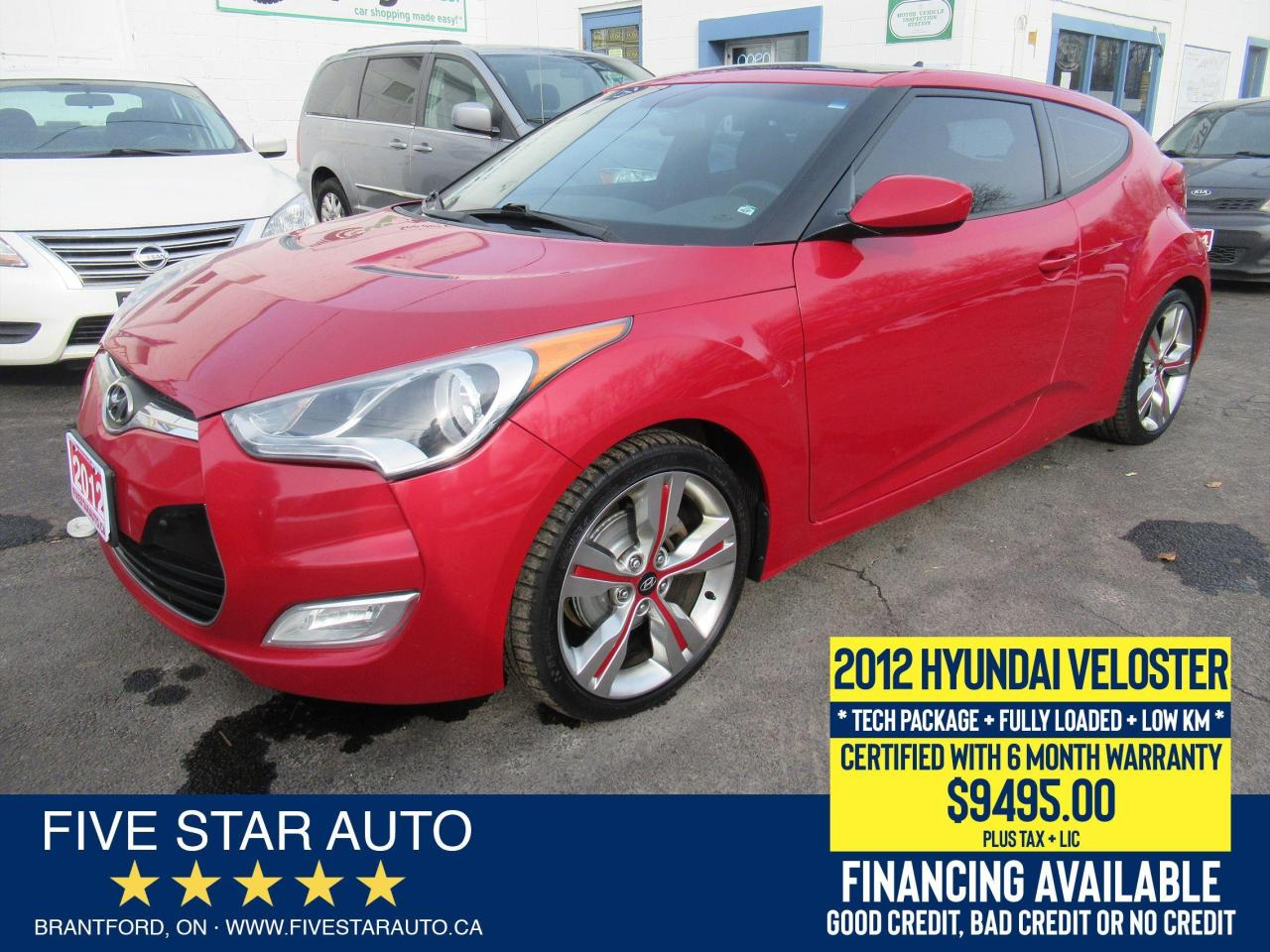2012 Hyundai Veloster w/Tech *Clean Carfax* Certified + 6 Month Warranty