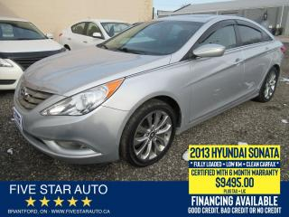 Used 2013 Hyundai Sonata GLS *Clean Carfax* Certified w/ 6 Month Warranty for sale in Brantford, ON