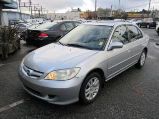 Used 2005 Honda Civic LX-G for sale in Vancouver, BC