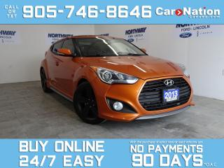 Used 2013 Hyundai Veloster TURBO | 6 SPEED M/T | LEATHER | SUNROOF | NAV for sale in Brantford, ON
