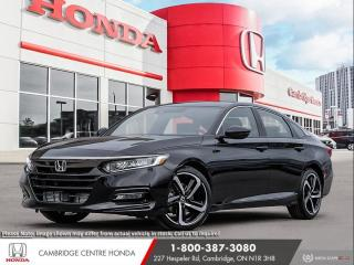New 2021 Honda Accord Sport 1.5T HEATED SEATS | APPLE CARPLAY™ & ANDROID AUTO™ | REMOTE STARTER for sale in Cambridge, ON