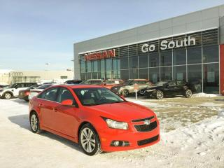 Used 2014 Chevrolet Cruze 2LT, LEATHER, SUNROOF for sale in Edmonton, AB