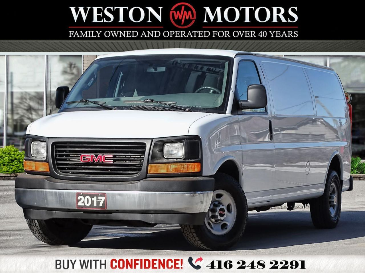 2017 GMC Savana 2500 4.8L*EXTENDED*REAR WINDOWS