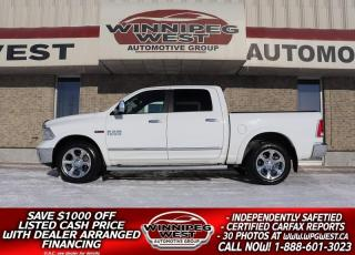Used 2014 RAM 1500 LARAMIE CREW ECODIESEL 4x4, LOADED, NEW ENGINE! for sale in Headingley, MB