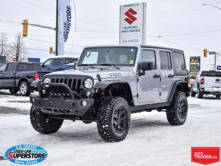 Used 2016 Jeep Wrangler Willys 4x4 ~Heavy Duty Bumpers ~Goodyear Duratracs for sale in Barrie, ON