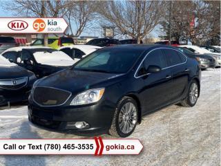 Used 2013 Buick Verano TURBO; SUNROOF, HEATED SEATS/WHEEL, LEATHER, NAV, BOSE, BACKUP CAMERA, BLUETOOTH for sale in Edmonton, AB