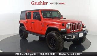 Used 2020 Jeep Wrangler Unlimited Sahara 4x4, 4Zone BDS Lift, 34 Amp Terrain Pro Tires, Navi, A Must See!! for sale in Winnipeg, MB