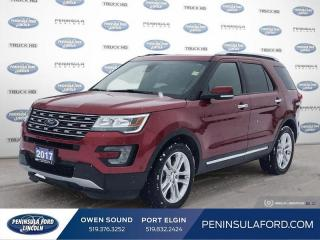 Used 2017 Ford Explorer Limited - Navigation -  Cooled Seats - $236 B/W for sale in Port Elgin, ON