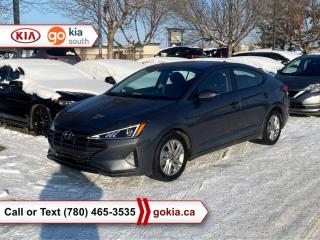 Used 2019 Hyundai Elantra PREFERRED; AUTOMATIC, WINTER TIRES, HEATED SEATS/WHEEL, A/C, BACKUP CAMERA, BLIND SPOT, ANDROID AUTO, APPLE CARPLAY, BLUETOOTH, GREAT ON GAS for sale in Edmonton, AB