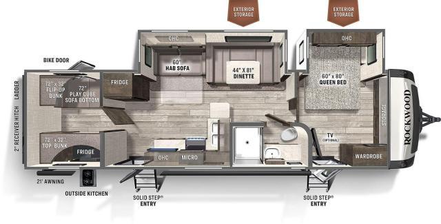 2021 Rockwood Ultra Lite 2911 BS Private Bunkroom
