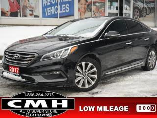 Used 2016 Hyundai Sonata Sport Tech  NAV ROOF LEATH HTD-S/W 17-AL for sale in St. Catharines, ON