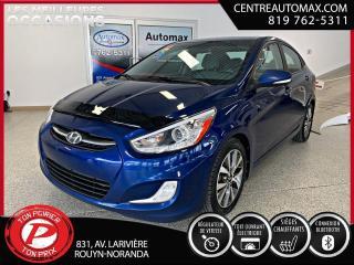 Used 2017 Hyundai Accent GLS ( frais vip 395$ non inclus) for sale in Rouyn-Noranda, QC