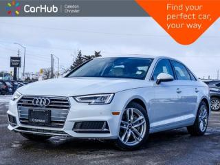 New 2019 Audi A4 Sedan Technik Quattro Navigation Sunroof Bluetooth 360 Camera Heat Front Seats 18