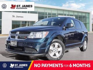 Used 2015 Dodge Journey Canada Value Pkg, Clean Carfax, Local Manitoba Vehicle, Push to Start for sale in Winnipeg, MB