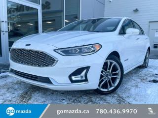 Used 2019 Ford Fusion Hybrid TITANIUM - HYBRID, LEATHER, SUNROOF, NAV, SONY UPGRADED SOUND SYSTEM! for sale in Edmonton, AB