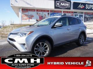 Used 2017 Toyota RAV4 Hybrid Limited  NAV CAM ROOF LEATH HTD-S/W 18-AL for sale in St. Catharines, ON