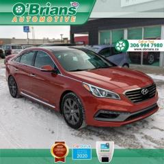 Used 2015 Hyundai Sonata 2.0T Limited - Accident Free! w/Leather, Command Start, Nav, Bac for sale in Saskatoon, SK