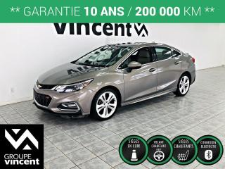 Used 2017 Chevrolet Cruze PREMIER RS CUIR ** GARANTIE 10 ANS ** Voiture élégante et confortable! for sale in Shawinigan, QC