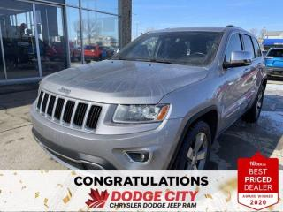 Used 2014 Jeep Grand Cherokee Limited | 4X4 | Leather | Htd Seats | Htd Steering | B/U Cam for sale in Saskatoon, SK