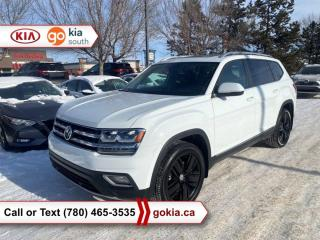 Used 2019 Volkswagen Atlas HIGHLINE; LOW KM!!!, PANORAMIC SUNROOF, AWD, HEATED SEATS/WHEEL, LEATHER, NAV, BACKUP CAMERA, 7 PASSENGER, BUTTON START, BLUETOOTH for sale in Edmonton, AB