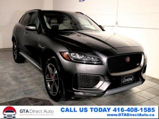 Used 2018 Jaguar F-PACE S Nav AWD Pano Meridian BlindSpot Cam Certified for sale in Toronto, ON