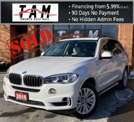 Used 2015 BMW X5 xDrive35i **SOLD** NAVI HUD Display Pano Sunroof PDC Heated Steering Clean Carfax No Accident for sale in North York, ON