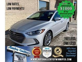 Used 2017 Hyundai Elantra Limited* Sunroof/Heated Seats/NAVIGATION for sale in Winnipeg, MB