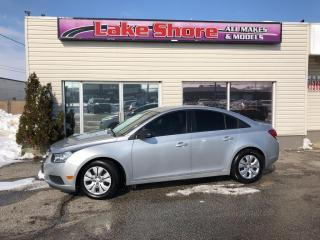 Used 2013 Chevrolet Cruze LS BLUETOOTH for sale in Tilbury, ON
