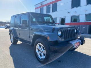 Used 2015 Jeep Wrangler Sahara Unlimited 2 Tops! for sale in Tillsonburg, ON
