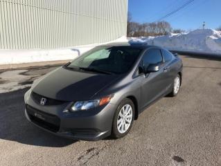 Used 2012 Honda Civic 2 portes, boîte automatique EX for sale in Québec, QC