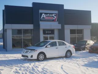 Used 2011 Toyota Corolla CE + INSPECTÉ + FREINS AVANTS NEUFS for sale in Sherbrooke, QC