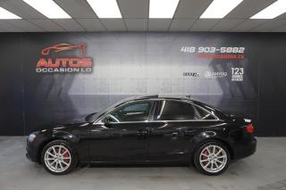 Used 2014 Audi A4 PROGRESSIV 2.0T QUATTRO + MANUEL CUIR TOIT GPS NAV for sale in Lévis, QC