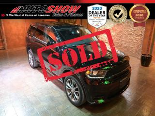 Used 2020 Dodge Durango GT - DVD x2, S.Roof, Nav, Htd Wheel & Lthr !! for sale in Winnipeg, MB