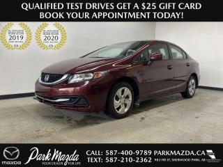 Used 2013 Honda Civic Sdn LX for sale in Sherwood Park, AB