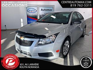 Used 2014 Chevrolet Cruze 2LS ( frais vip 395$ non inclus) for sale in Rouyn-Noranda, QC